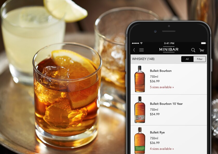 Use the Minibar Delivery site or app for on-demand alcohol. (Courtesy photo)