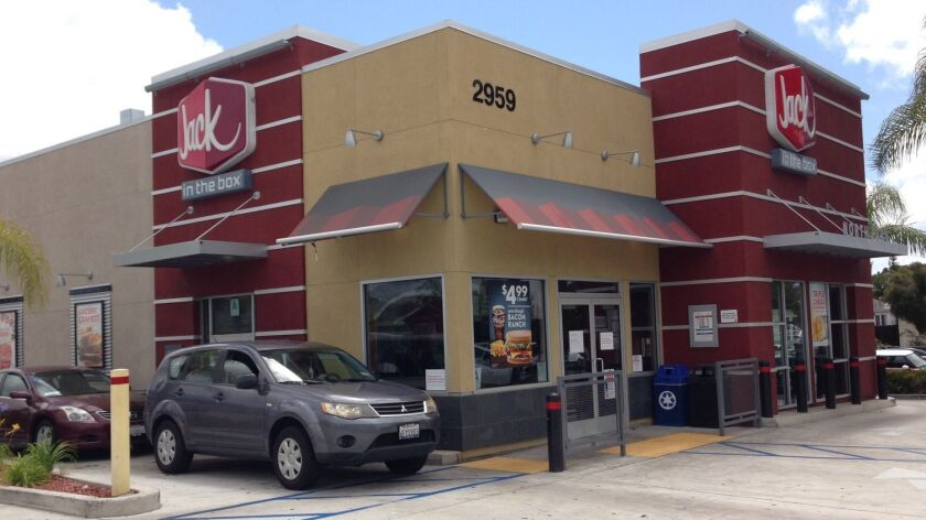 North Park's Jack in the Box, rebuilt in 2013, includes a drive-in window in apparent violation of