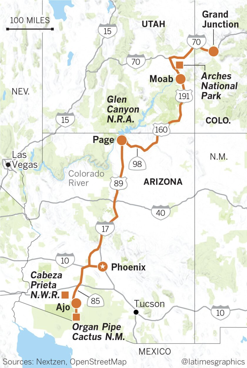 Map Of Arizona Utah.Following Environmentalist Edward Abbey S Footsteps In The Utah And