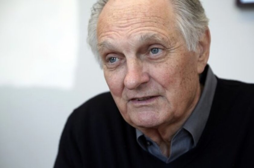 """Actor Alan Alda, who has hosted such shows as """"Scientific American Frontiers,"""" is going to help scientists on the West Coast to become better storytellers. His communications training company will work out of Scripps Research."""
