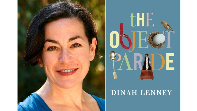 "Author Dinah Lenney and the cover of her book, ""The Object Parade."""
