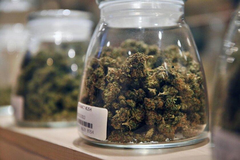 Marijuana at a dispensary in Denver.
