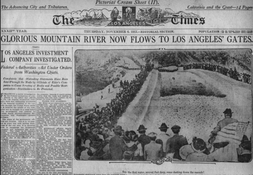 Owens Valley water has fueled Los Angeles' growth for more than a century.