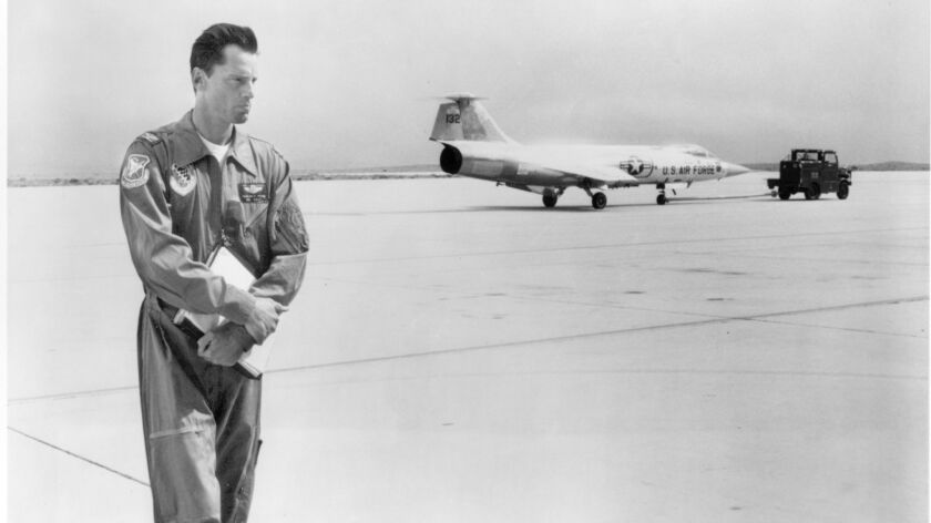 "Sam Shepard as Chuck Yeager in the 1983 movie ""The Right Stuff."""