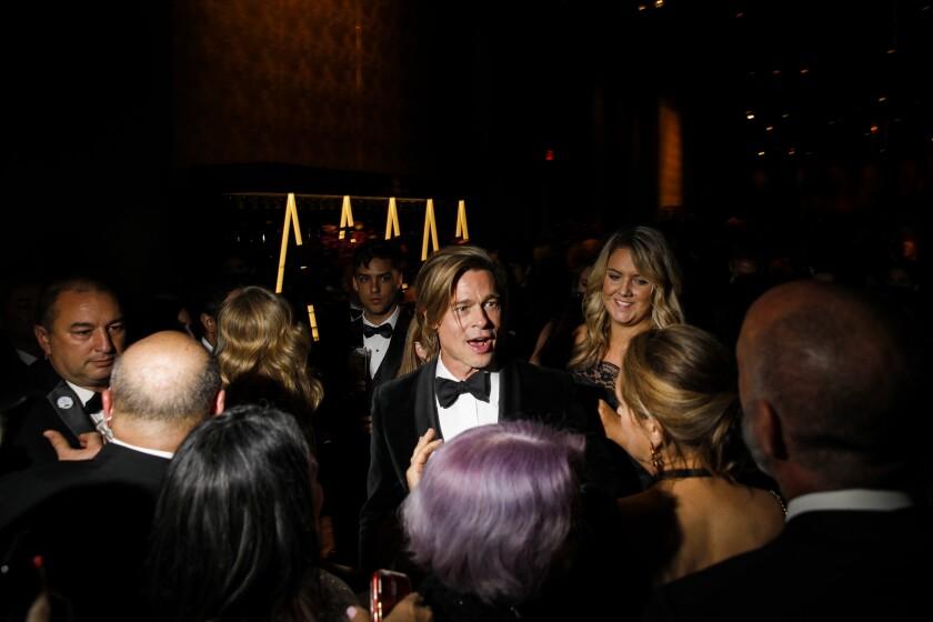 Brad Pitt at the Academy Awards Governors Ball.