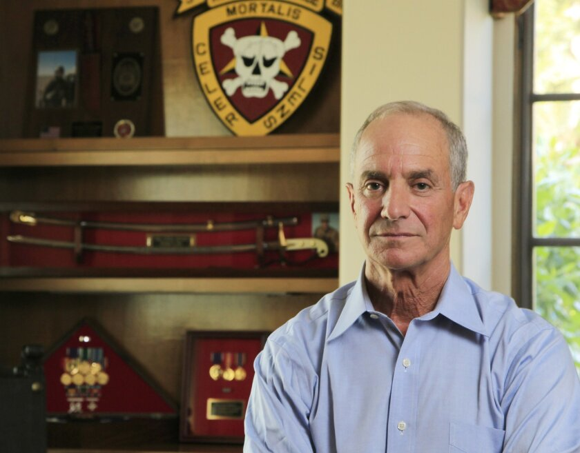 Dr. Bill Krissoff at his home on Friday in Rancho Santa Fe, California. Krissoff's son, Nate, was killed by an IED in Iraq. Krissoff decided to honor his son by volunteering to serve as a battlefield surgeon in Iraq and Afghanistan.