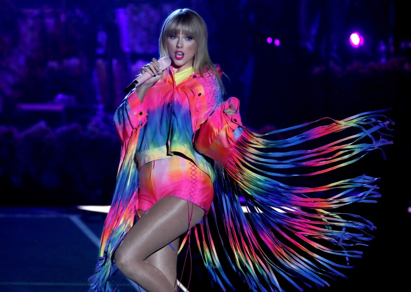 Taylor Swift performs during this month's Wango Tango concert in Carson.