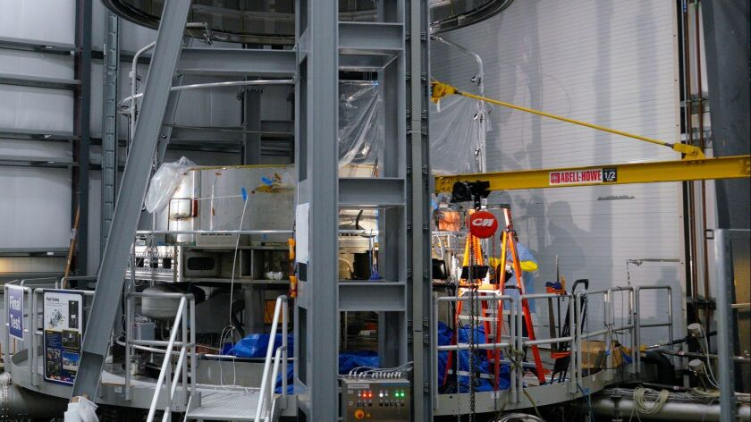 The final test chamber where a completed module is place for a battery of tests. The module is firs