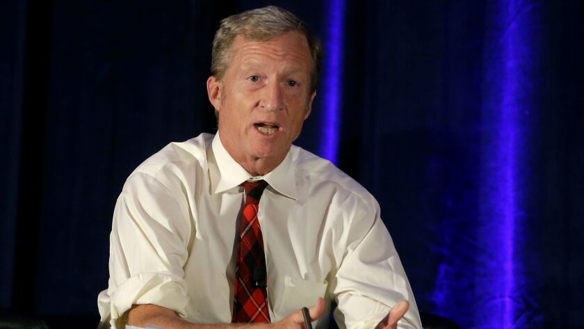 Tom Steyer said he's not surprised some Democrats object to his drive to impeach President Trump.