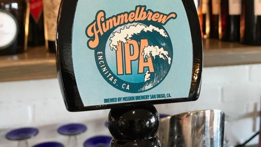 Himmelbrew beer tap handle at The Patio on 101 in Encinitas