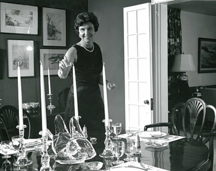Elizabeth Post, seen in 1968, was the granddaughter-in-law of Emily Post, considered the country's foremost etiquette expert.