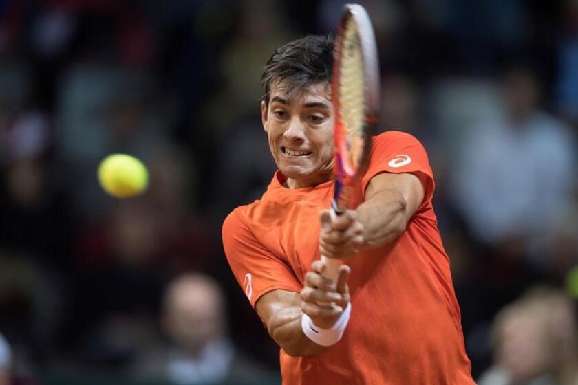 En la imagen, el tenista chileno Christian Garín. EFE/Archivo