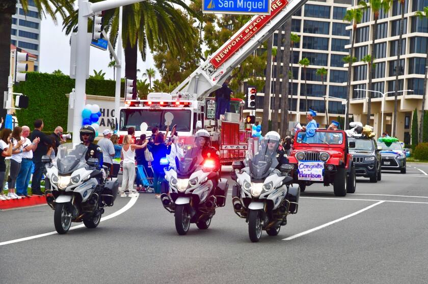Newport Beach police motor officers