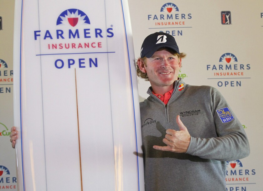 Brandt Snedeker won the Farmers Insurance Open at Torrey Pines. Snedeker finished his 6 under par round on Sunday, while others had to finish on Monday, due to a weather delay.