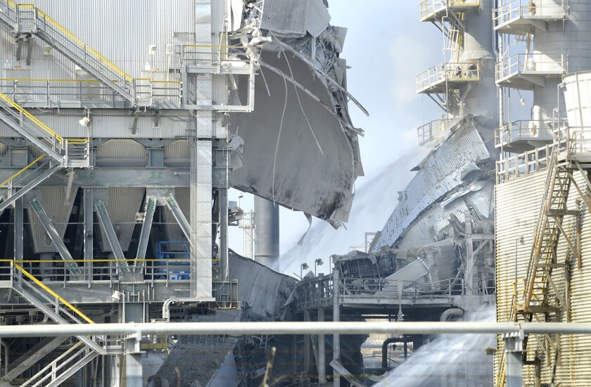 A February explosion at the Exxon Mobil Refinery off Crenshaw Boulevard in Torrance left the plant operating at less than 20% of its normal capacity.