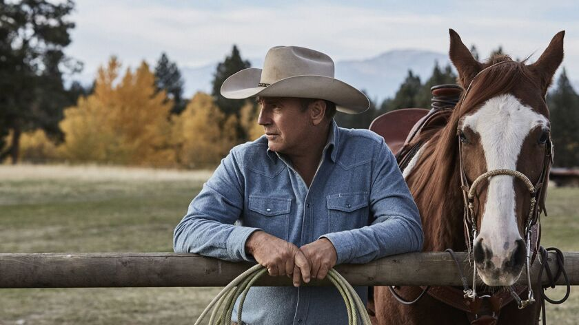 """Kevin Costner plays a rancher in the new drama series """"Yellowstone"""" on the Paramount Network."""
