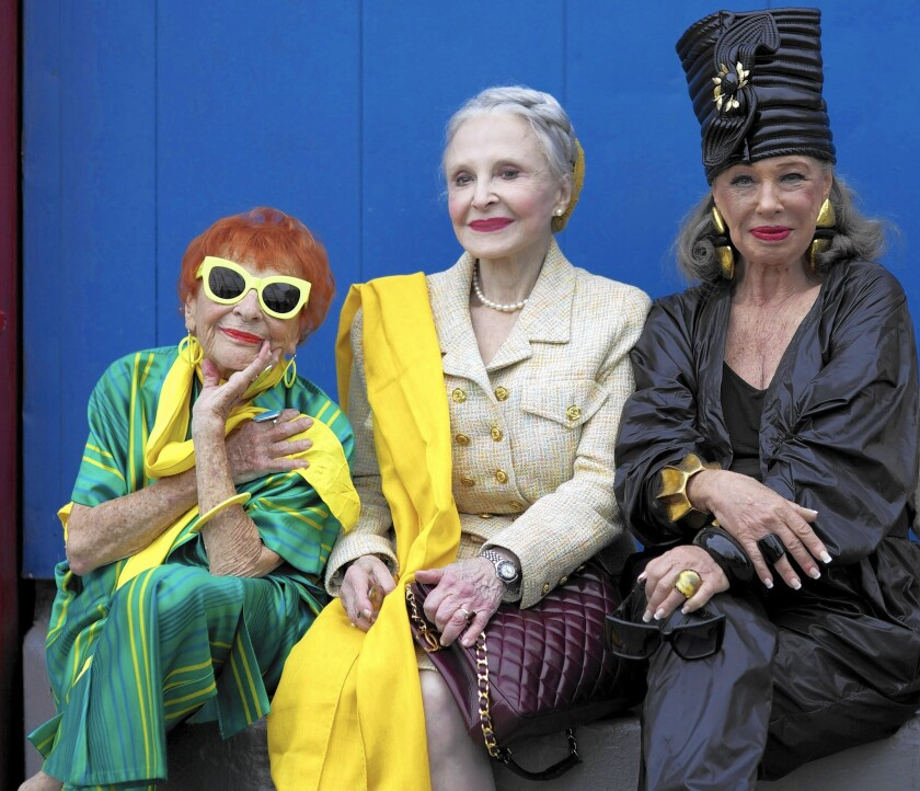 "Lona Smithkin, from left, Joyce Carpati and Lynn Dell in ""Advanced Style."""
