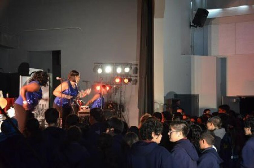 Masters of Motown performing at the Preuss School, UCSD. Photo courtesy of Peter Ho, student at the Preuss School UCSD