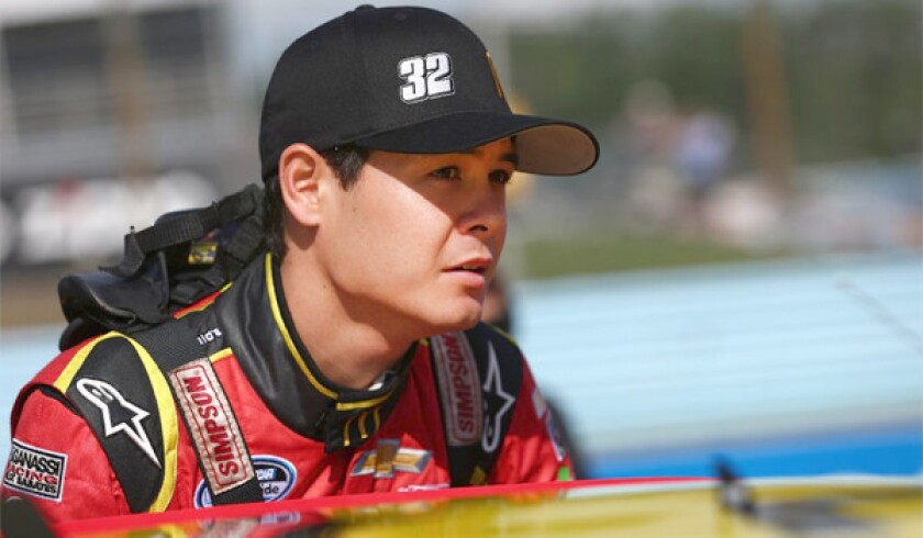 NASCAR driver Kyle Larson, from Elk Grove, Calif., will join the Sprint Cup Series next year with the Earnhardt Ganassi Racing team.