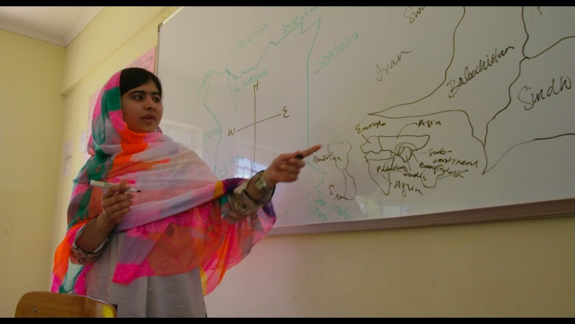 "Pakistani activist Malala Yousafzai is the subject of the documentary ""He Named Me Malala,"" which opened the Telluride Film Festival"