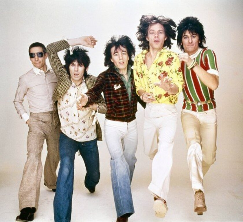 Charlie Watts, left, Keith Richards, Bill Wyman, Mick Jagger, Ronnie Wood of the Rolling Stones.