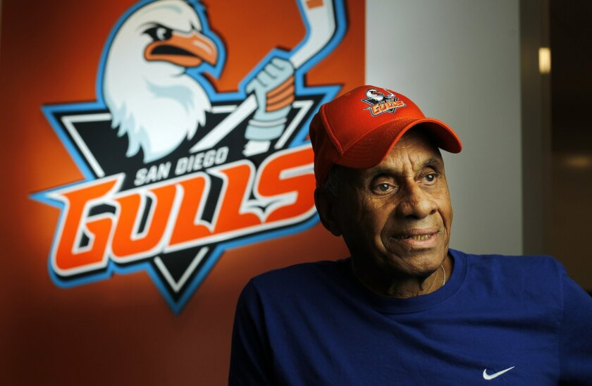NHL pioneer Willie O'Ree, the most popular hockey player in San Diego history, will be honored as part of the Gulls' return to San Diego.