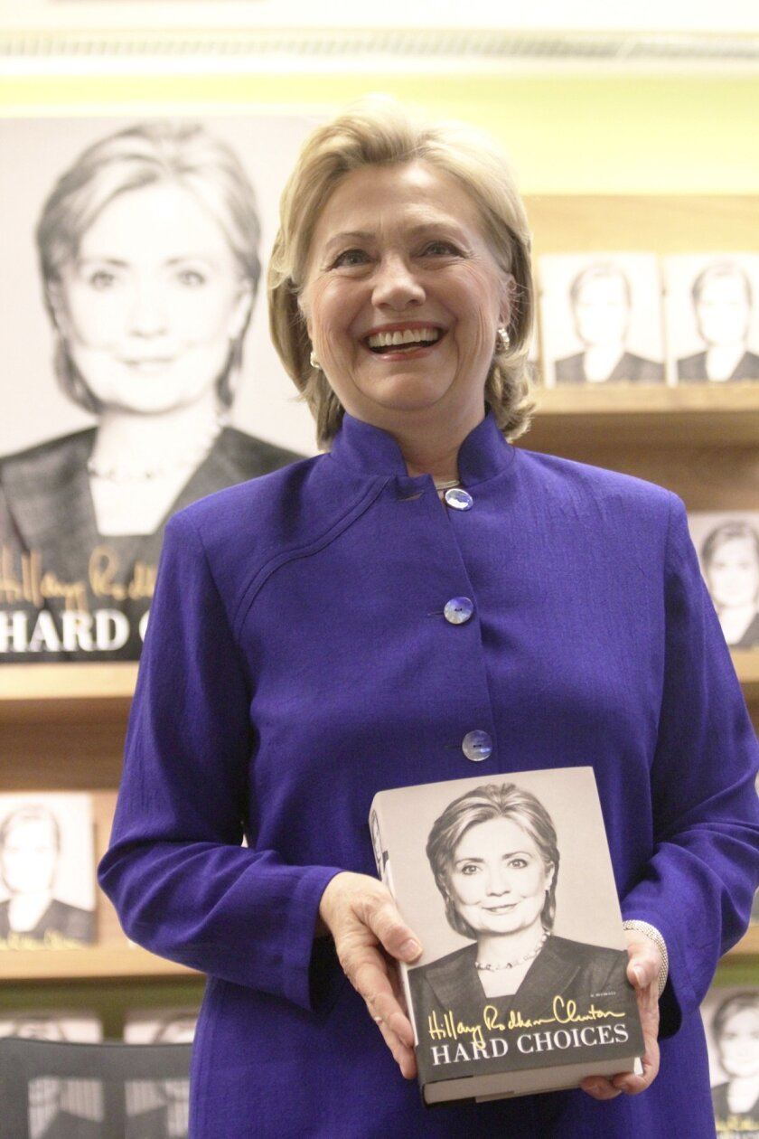 Hillary Rodham Clinton appeared at Warwick's Bookstore in June to sign copies of her memoir, 'Hard Choices.'