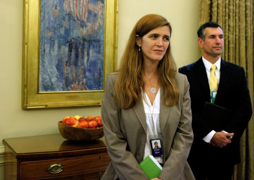 Samantha Power in the Oval Office in 2009.