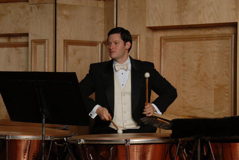 San Diego Symphony principal timpani Ryan DiLisi