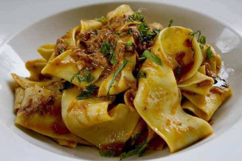 An egg-rich pappardelle sauced in a gentle lamb ragu, Neapolitan style.