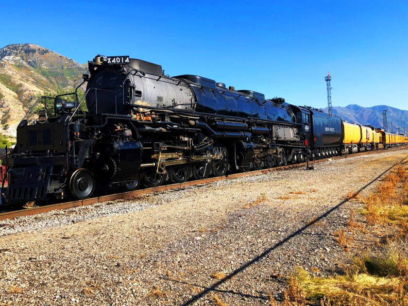 The biggest functional steam locomotive, the Big Boy 4014, weighs 1.2 million pounds. It will be in the Los Angeles area beginning Oct. 9.