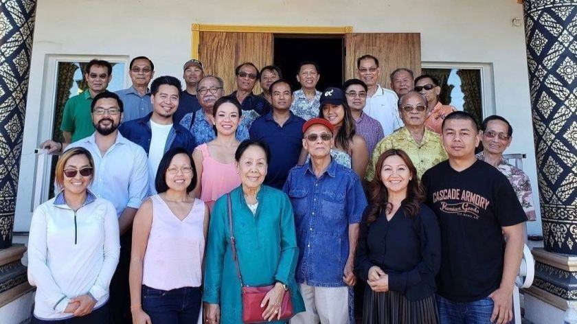 Lao Advocacy Organization San Diego, or LaoSD, members meet with community elders from the San Diego Laotian community.