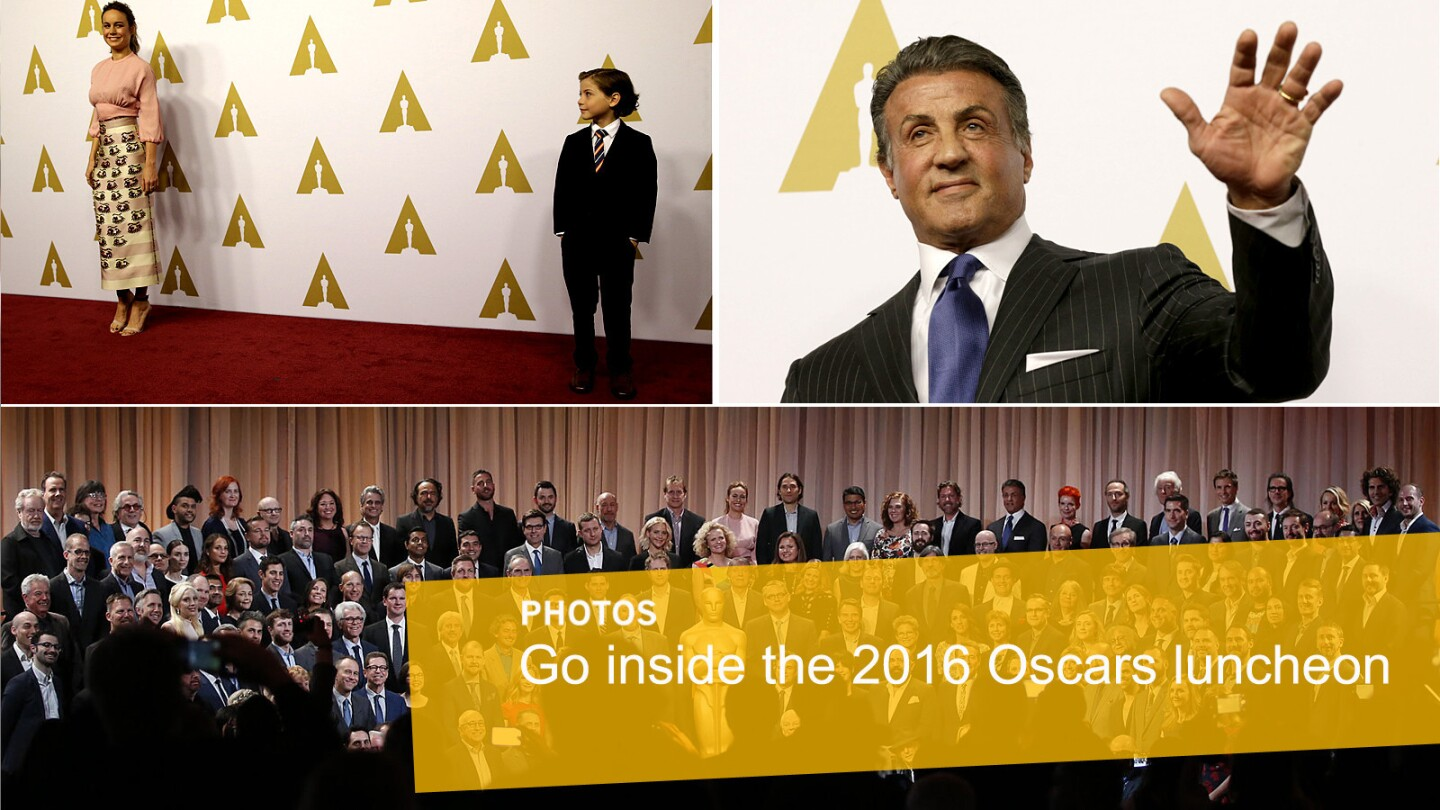 Images from the 2016 Academy Awards luncheon at the Beverly Hilton Hotel.