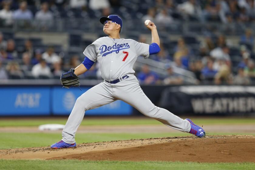 El lanzador mexicano de los Dodgers, Julio Urías tiene la mira en octubre.