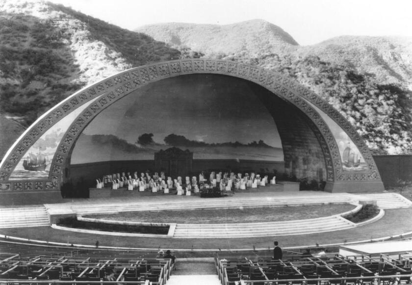 The Hollywood Bowl stage in 1926.