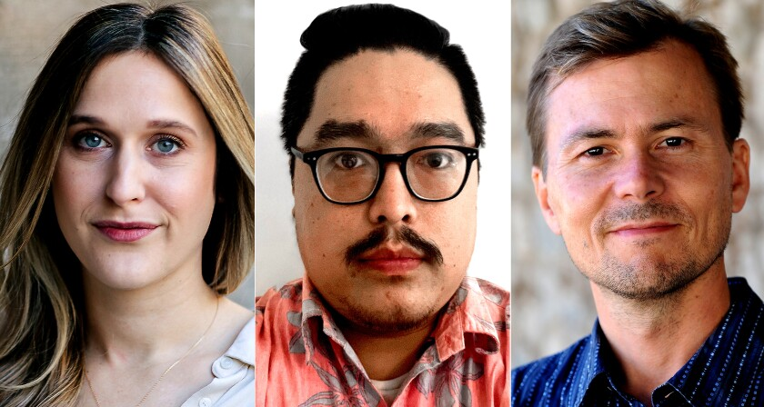 Portraits of Hayley Smith, Gregory Yee and Ian James