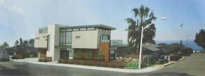 Plans were presented for this proposed 3,101 square-foot residence at 5664 Abalone Place in Bird Rock Feb. 17, though the applicant decided to table the project to a future DPR meeting after committee members argued that it didn't fit the character of the neighborhood.