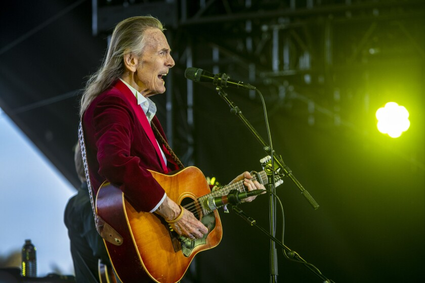 Gordon Lightfoot, performing at the Stagecoach country music festival in 2018, is touring Southern California this month.