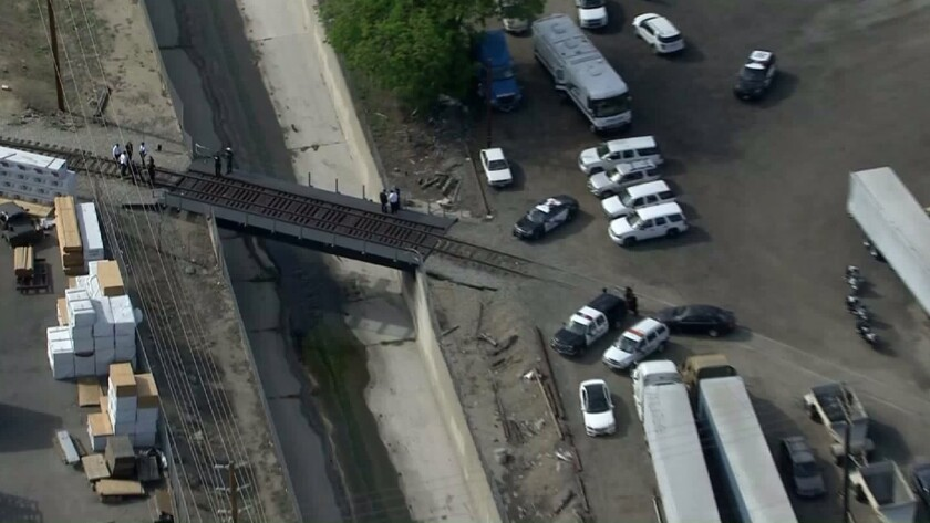 Dead body is found wrapped in plastic near Burbank train