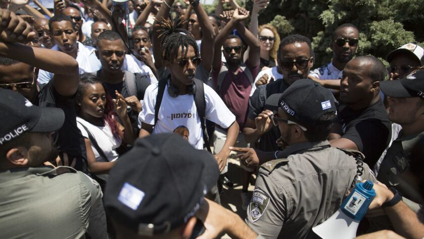 Israeli Ethiopians Protest At The Knesset