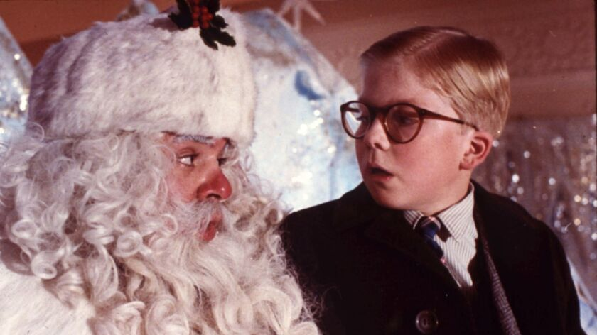 """Ralphie (Peter Billingsley, right) is back in the annual marathon of 1983's """"A Christmas Story"""" on TBS and TNT. With Jeff Gillen."""