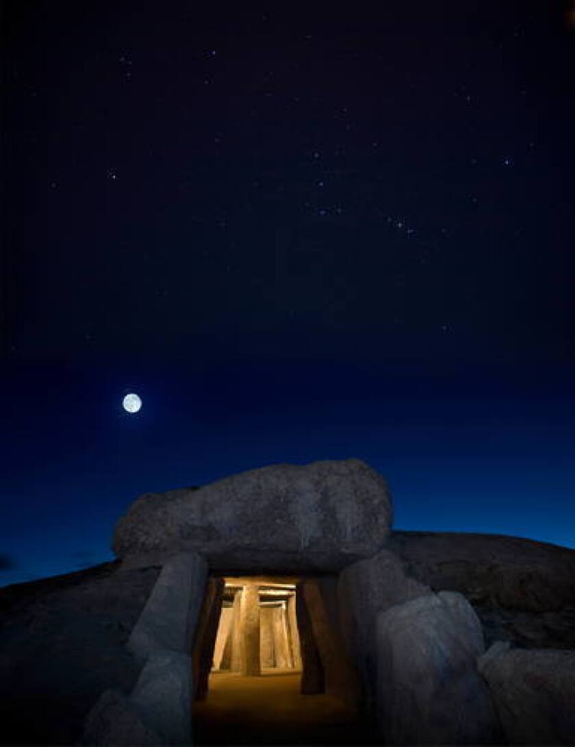 The Menga dolmen in southern Spain.