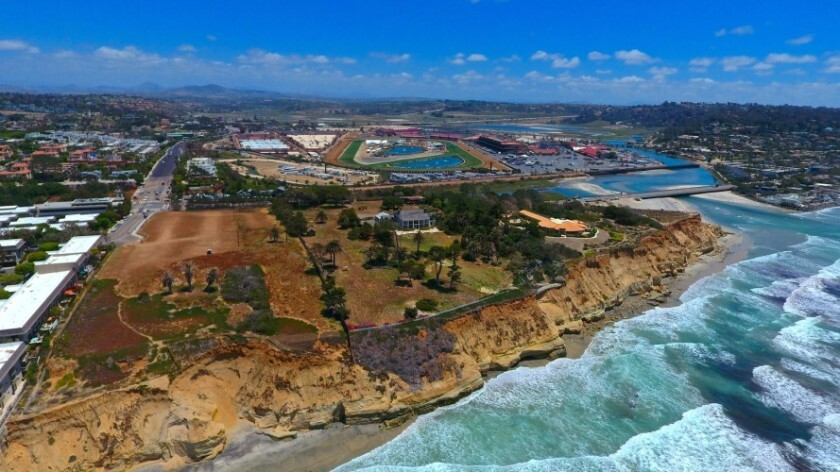 The proposed Marisol resort would be located on a triangular piece of land just north of Dog Beach in Del Mar.