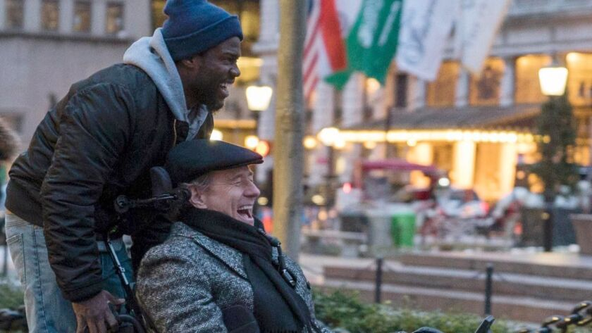 """Kevin Hart and Bryan Cranston in the STX-released movie """"The Upside."""""""