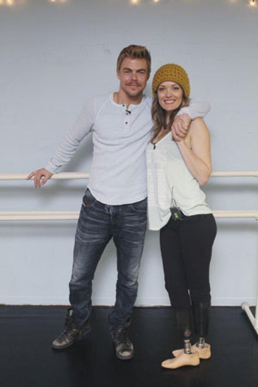 Derek Hough and Amy Purdy.