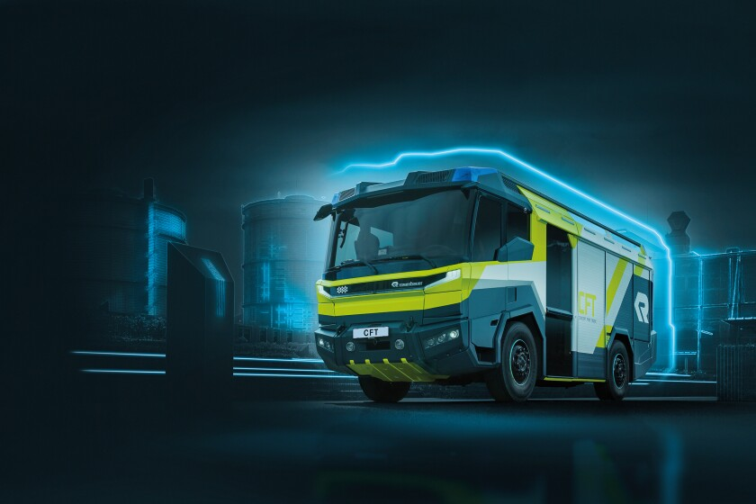 The Los Angeles Fire Department ordered its first electric fire engine Monday. The Rosenbauer Concept Fire Truck, or CFT, will cost $1.2 million and is set to debut in 2021.
