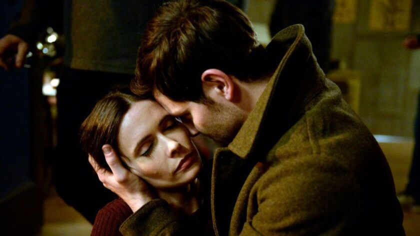 """GRIMM -- """"The End"""" Episode 613 -- Pictured: (l-r) Bitsie Tulloch as Eve, David Giuntoli as Nick Burk"""