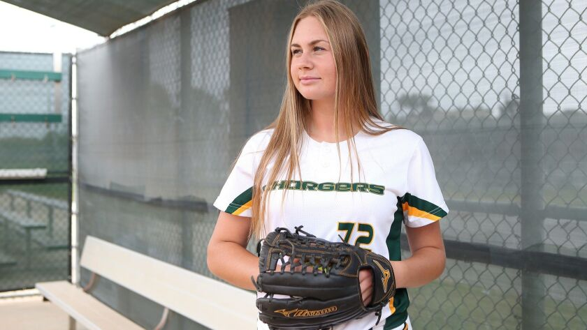 Edison High junior softball pitcher Jenna Bloom is the Daily Pilot High School Female Athlete of the
