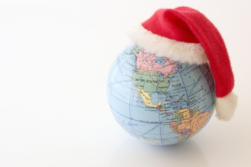 Christmas Globe - North and South Americas