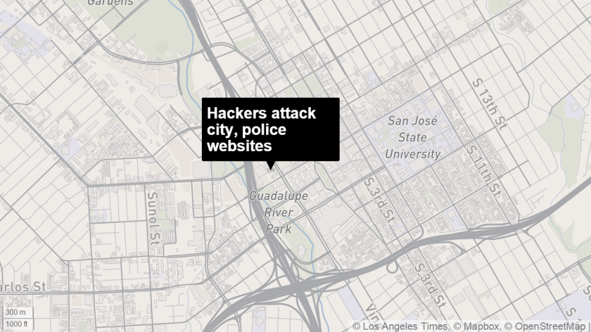 Hackers hassle San Jose police, city websites for days - Los